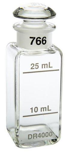 """Celda de muestra 1"""" vidrio cuadrado 10 y 25mL con tapa"""