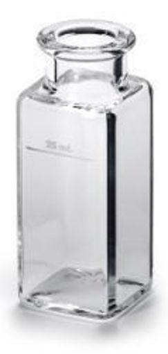 """Celda de muestra de vidrio 1"""" cuadrado  25 mL"""