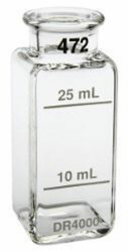 """Celda de muestra 1"""" de vidrio cuadrado de 10 ml y 25 ml"""