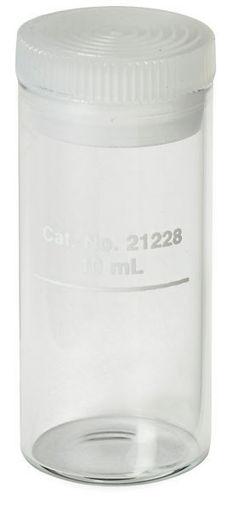 "Celda  1"" vidrio redondo 10 ml con tapa"