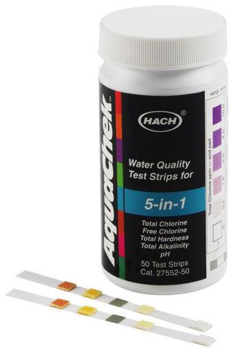 Tiras de prueba de calidad del agua - 5 en 1