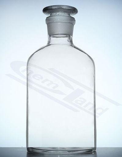 Frasco para reactivos incoloros con tapa esmerilada en vidrio borosilicato Glassco
