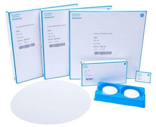 Papel de filtros de microfibra de vidrio Grade GF/B x 100u.