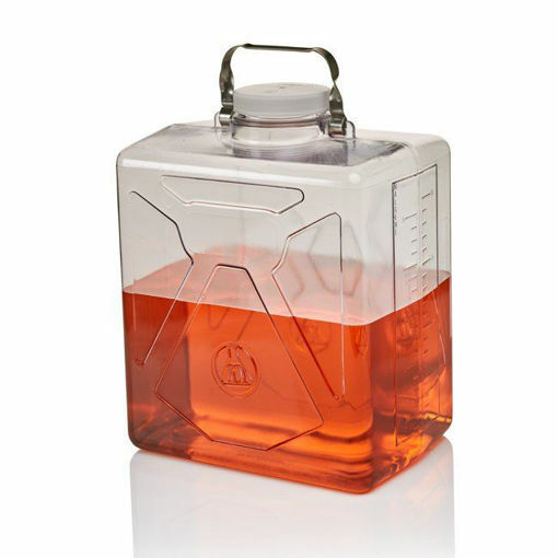 Clearboy Transparent Carboy Rect w/SS Handle PC 9L