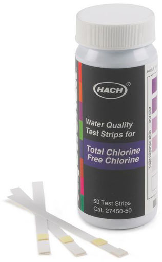 Tiras de Prueba de Cloro Libre y Cloro Total, 0-10 mg / L