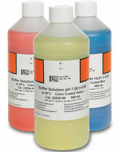 Kit de soluciones para pH 4,01, pH 7,00 y pH 10,01. 3 x 500mL