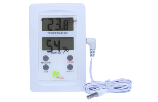 Termómetro Higrómetro Digital Doble Pantalla Con Sonda -50ºC/+70ºC