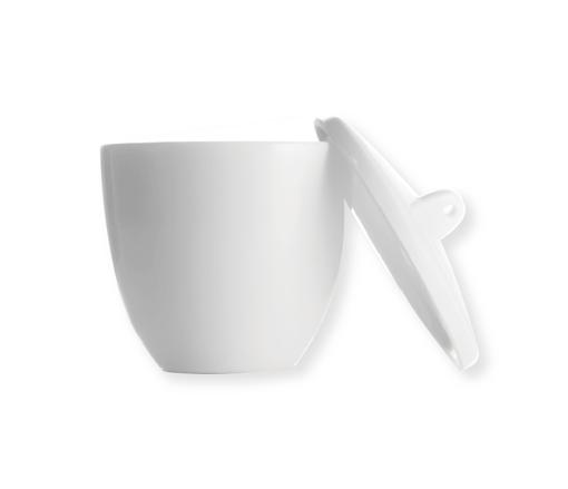 Crisol de Porcelana con tapa