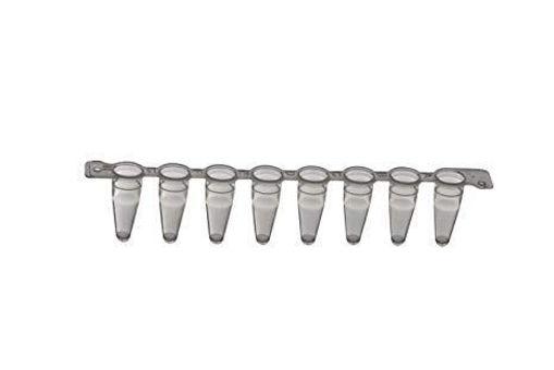 Tubos para PCR en tiras x 8 tubos de 0,1 ml estéril sin tapa x 120 tiras