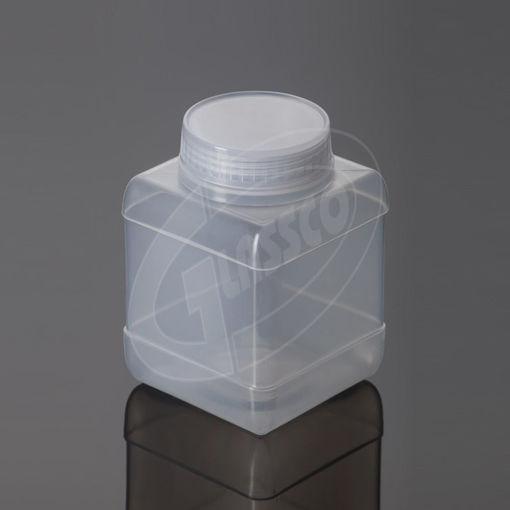 Botella cuadrada translucida autoclavables de PP