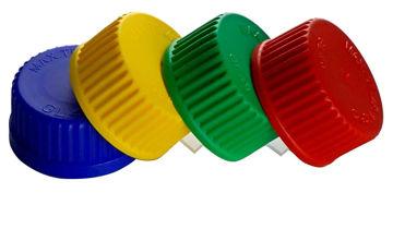 Tapa a rosca autoclavable a 140ºC de colores