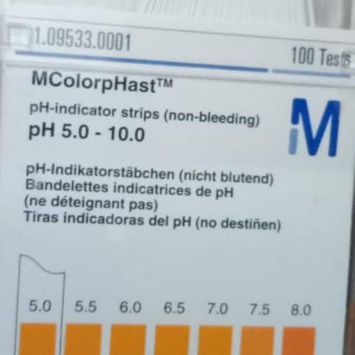 Tiras para determinación de pH rango 5 - 10 x 100u.