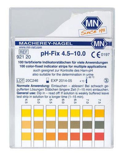 Tiras indicadoras de pH-Fix rango 4,5 - 10 x 100u.