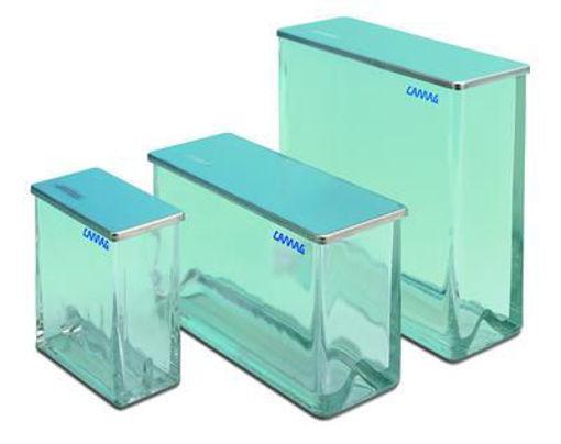 Cuba cromatográfica de compartimento doble para TLC / HPTLC