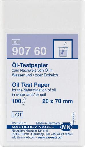 Papel de prueba Oil Test para la determinación cualitativa de Hidrocarburos en aguas y suelos x 100u.