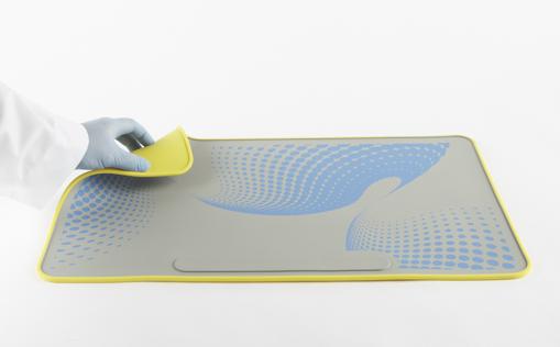 Manta de seguridad de silicona 35 x 60 x 2 cm
