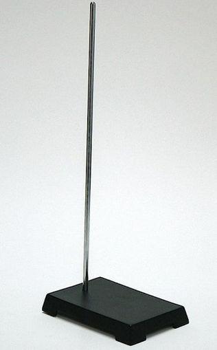 Soporte universal de 22 cm x 13 cm, esmaltado, varilla cromada de 10 mm x 70 cm