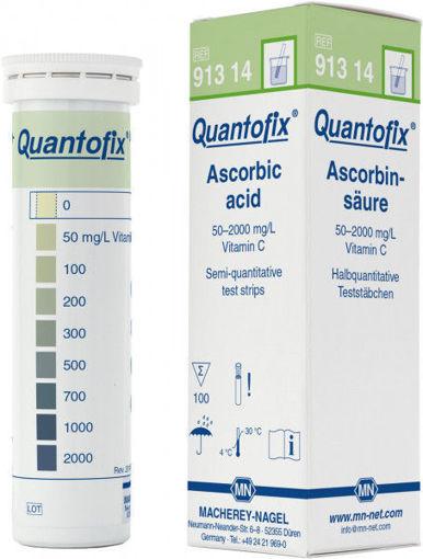 Tiras reactivas semicuantitativas QUANTOFIX Acido ascórbico x 100u.