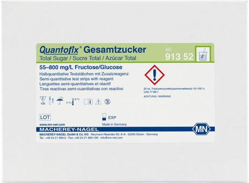 Tiras reactivas semicuantitativas QUANTOFIX Azúcar total x 100u.
