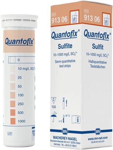 Tiras para prueba semicuantitativa de Sulfito QUANTOFIX x 100u.