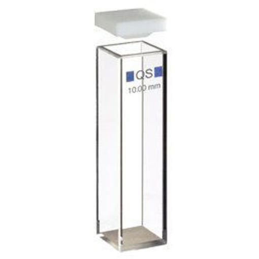 Macro cubeta de vidrio óptico de 10mm de recorrido de luz y  tapa de PTFE