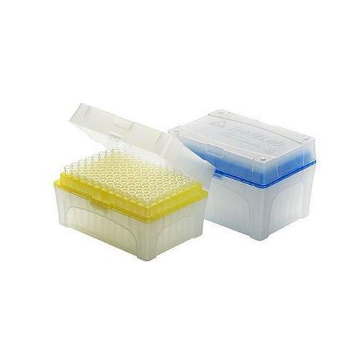 Tips con filtro estéril libre de DNAsa y RNAsa en rack x 96u.