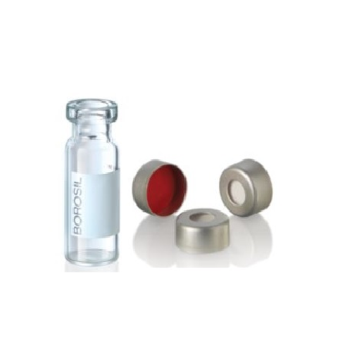 Combipack Vial 2ml transparente con tapa de aluminio y septa silicona - PTFE x 100u.