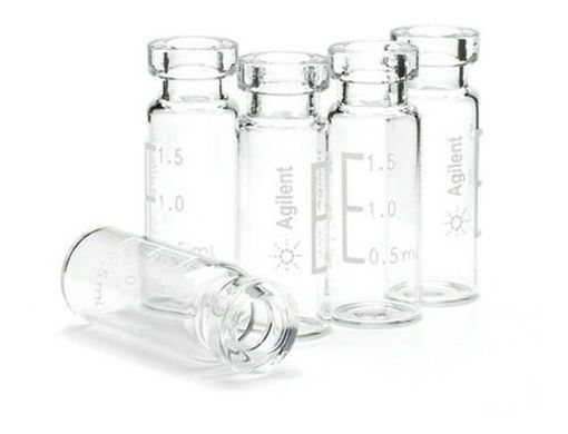 Viales certificados de vidrio transparente de encapsulado de boca ancha de 2ml x 1000u.