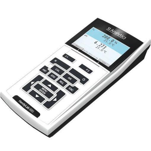 Medidor multiparametrico portátil HANDYLAB 680 con celda de conductividad LF413T ID de 4 polos y Electrodo de PH ID