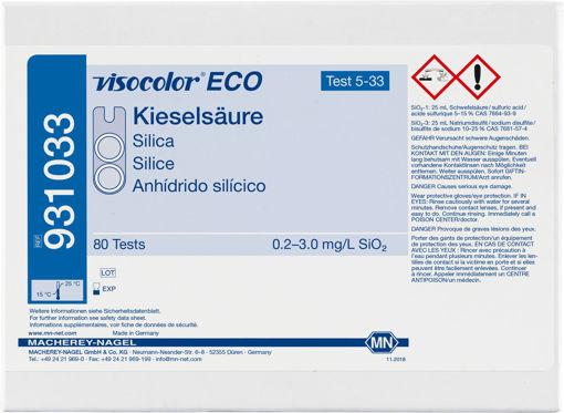 Kit de prueba colorimétrica VISOCOLOR ECO Silica x 80u.
