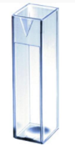 Imagen de Macro cubeta de cuarzo con paso de luz de 10mm y tapa de PTFE