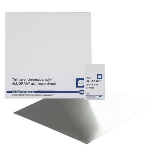 Láminas de aluminio HPTLC / TLC, gel de sílice 20 x 20cm x 25u.