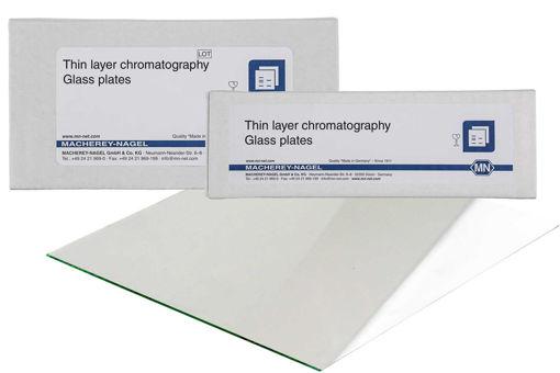 Placas de vidrio 10 x 10cm HPTLC / TLC, capa de gel de sílice, Nano-SIL UV254 x 25u.