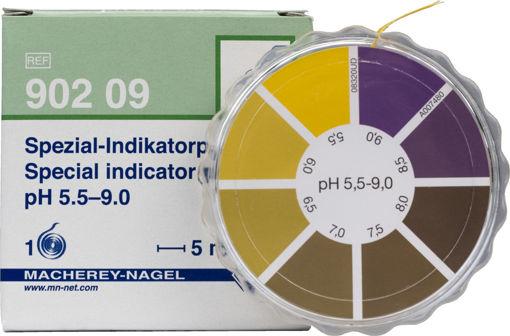 Papel indicador pH 5,5–9 en rollo x 5 metros