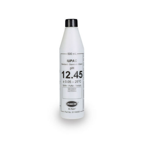 Solución estándar certificada IUPAC pH 12,45 x 500mL
