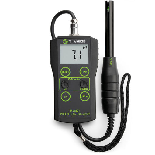 Medidor de pH, Conductividad y TDS de rango bajo MW801 PRO con ATC