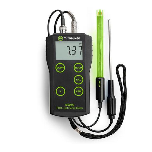 Medidor de pH y temperatura MW102 2 en 1 con ATC